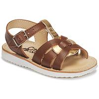 鞋子 女孩 凉鞋 Citrouille et Compagnie MINOTTE 棕色 / 金色