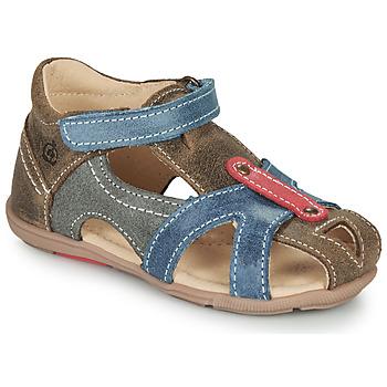 鞋子 男孩 凉鞋 Citrouille et Compagnie MARIOL 灰色 / 蓝色