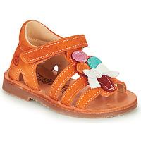 鞋子 女孩 凉鞋 Citrouille et Compagnie MIETTE 橙色