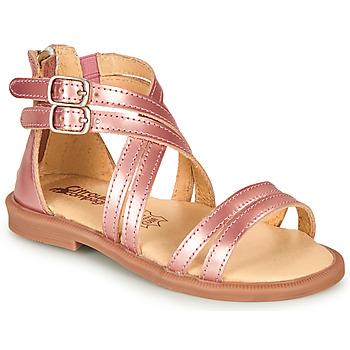 鞋子 女孩 凉鞋 Citrouille et Compagnie IMOURAT 玫瑰色 / 金色