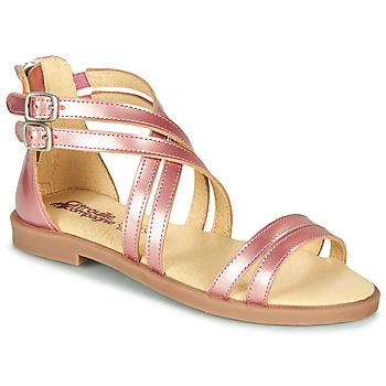 鞋子 女孩 涼鞋 Citrouille et Compagnie IMOURAT 玫瑰色 / 金色