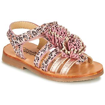 鞋子 女孩 凉鞋 Citrouille et Compagnie MARINAS 玫瑰色