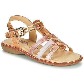鞋子 女孩 凉鞋 Citrouille et Compagnie GROUFLA 金色 / 玫瑰色