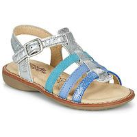 鞋子 女孩 凉鞋 Citrouille et Compagnie GROUFLA 银灰色 / 蓝色