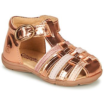 鞋子 女孩 凉鞋 Citrouille et Compagnie RINE 玫瑰色 / 金属光泽