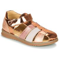 鞋子 女孩 凉鞋 Citrouille et Compagnie FRINOUI 古銅色 / 玫瑰色