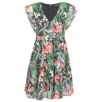 衣服 女士 短裙 Guess EULALIA DRESS 黑色 / 绿色