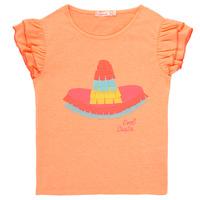衣服 女孩 短袖体恤 Billieblush / Billybandit NORE 橙色