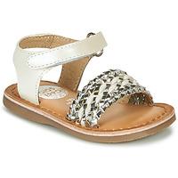 鞋子 女孩 凉鞋 Gioseppo VARESE 白色 / 银灰色