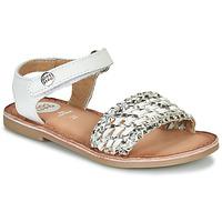 鞋子 女孩 凉鞋 Gioseppo VIETRI 白色 / 银灰色
