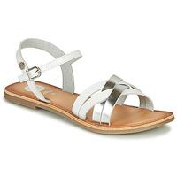 鞋子 女孩 凉鞋 Gioseppo GISTEL 白色 / 银灰色