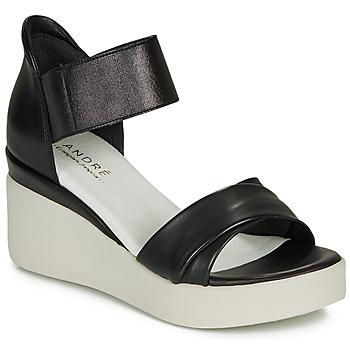 鞋子 女士 凉鞋 André HERMINIA 黑色