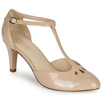 鞋子 女士 高跟鞋 André FALBALETTE 裸色