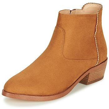 鞋子 女士 短筒靴 André BELEN 驼色
