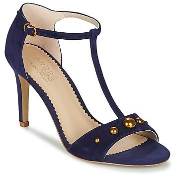 鞋子 女士 凉鞋 André LA DOMPTEUSE 蓝色