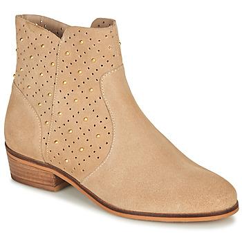 鞋子 女士 短筒靴 André BERTINA 米色