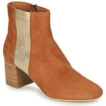 鞋子 女士 短筒靴 André BINDY 驼色