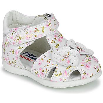 鞋子 女孩 凉鞋 Primigi 5401300 白色 / 玫瑰色