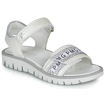 鞋子 女孩 凉鞋 Primigi 5386700 白色 / 银灰色