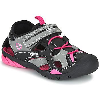 鞋子 女孩 运动凉鞋 Primigi 5460011 黑色 / 玫瑰色