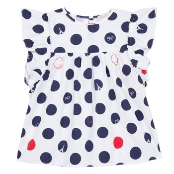 衣服 女孩 女士上衣/罩衫 Lili Gaufrette POUSSI 白色