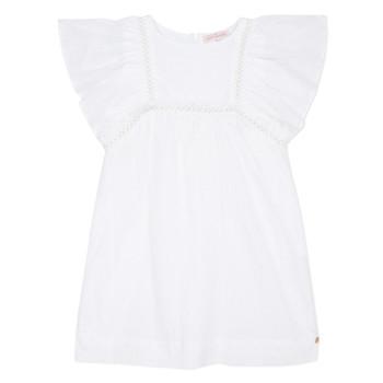 衣服 女孩 短裙 Lili Gaufrette MELINA 白色