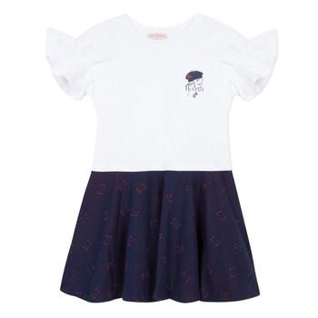衣服 女孩 短裙 Lili Gaufrette PERRINE 白色