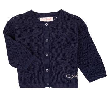 衣服 女孩 羊毛开衫 Lili Gaufrette CETELIA 海蓝色