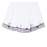 衣服 女孩 半身裙 Lili Gaufrette MAYA 白色