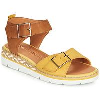 鞋子 女士 凉鞋 KARSTON KICHOU 黄色 / 棕色