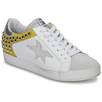鞋子 女士 球鞋基本款 Meline GELLABELLE 白色 / 芥末黄