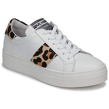 鞋子 女士 球鞋基本款 Meline GETSET 白色 / Leopard