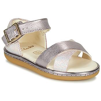 鞋子 女孩 凉鞋 Clarks 其乐 SKYLARK PURE T 银灰色 / 玫瑰色
