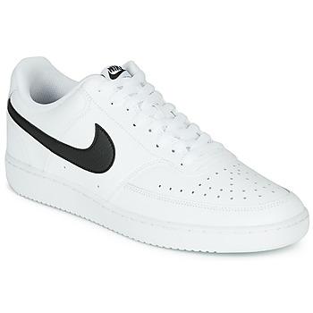 鞋子 男士 球鞋基本款 Nike 耐克 COURT VISION LOW 白色 / 黑色