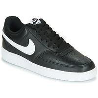 鞋子 女士 球鞋基本款 Nike 耐克 COURT VISION LOW 黑色 / 白色