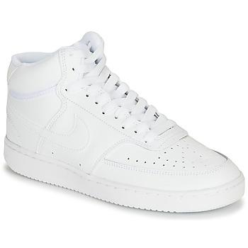鞋子 女士 球鞋基本款 Nike 耐克 COURT VISION MID 白色