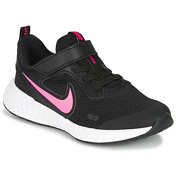 鞋子 女孩 多项运动 Nike 耐克 REVOLUTION 5 PS 黑色 / 玫瑰色