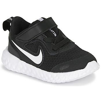 鞋子 儿童 球鞋基本款 Nike 耐克 REVOLUTION 5 TD 黑色 / 白色