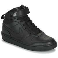 鞋子 儿童 球鞋基本款 Nike 耐克 COURT BOROUGH MID 2 GS 黑色