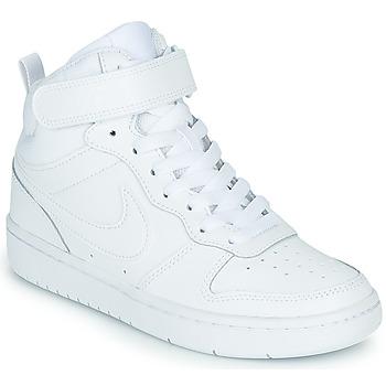 鞋子 儿童 高帮鞋 Nike 耐克 COURT BOROUGH MID 2 GS 白色