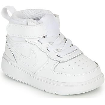 鞋子 儿童 球鞋基本款 Nike 耐克 COURT BOROUGH MID 2 TD 白色