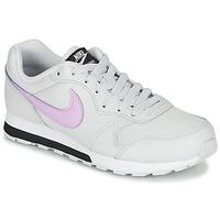 鞋子 女孩 球鞋基本款 Nike 耐克 MD RUNNER GS 白色 / 玫瑰色