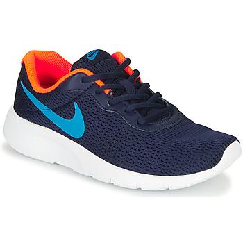 鞋子 男孩 球鞋基本款 Nike 耐克 TANJUN GS 蓝色