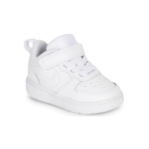 鞋子 儿童 球鞋基本款 Nike 耐克 COURT BOROUGH LOW 2 TD 白色