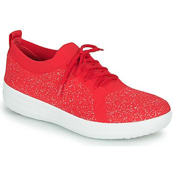 鞋子 女士 球鞋基本款 FitFlop F-SPORTY UBERKNIT SNEAKERS 红色
