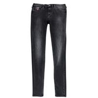 衣服 女孩 紧身牛仔裤 Pepe jeans PAULETTE 黑色