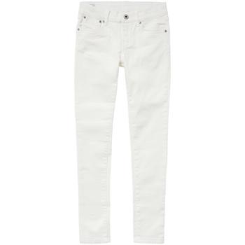 衣服 女孩 紧身牛仔裤 Pepe jeans PIXLETTE 白色