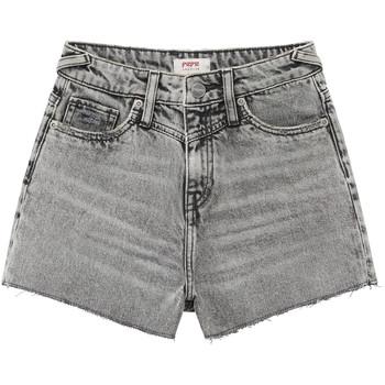 衣服 女孩 短裤&百慕大短裤 Pepe jeans ROXIE 灰色