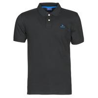 衣服 男士 短袖保罗衫 Gant GANT CONTRAST COLLAR PIQUE POLO 黑色 / 蓝色