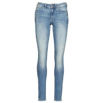 衣服 女士 牛仔铅笔裤 G-Star Raw MIDGE ZIP MID SKINNY WMN 蓝色
